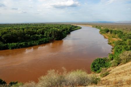 Omo river valley, Ethiopia 版權商用圖片