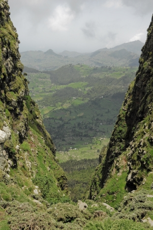 rift: Debre Birhan Highland, Ethiopia Stock Photo