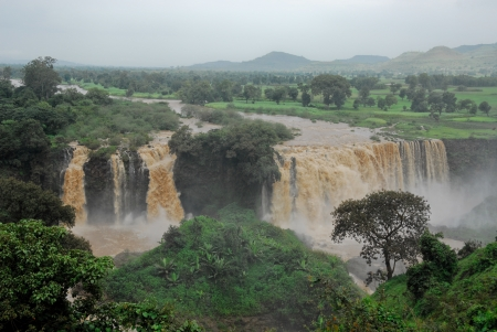 Tiss abay Falls on the Blue Nile river, Ethiopia photo