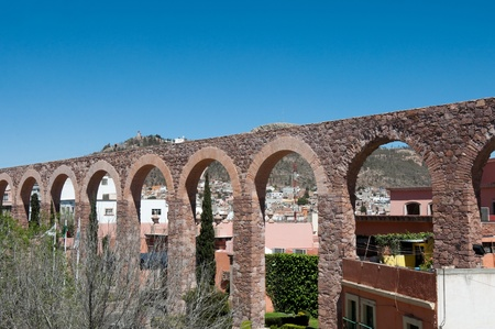 Aquaduct van Zacatecas, Mexico Stockfoto