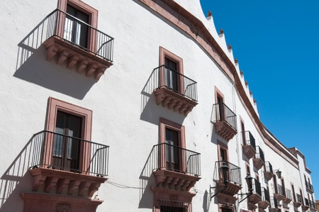 spanish village: Colonial architecture in Zacatecas, Mexico