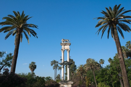 murillo: Monument to Columbus, Murillo gardens, Seville, Spain