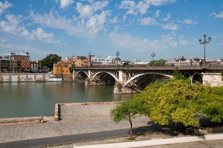 isabel: Isabel II bridge  Triana Bridge , Guadalquivir river in Seville