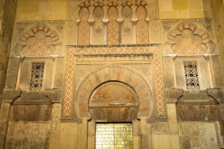 Side gate of Mezquita-Catedral at night, Cordoba, Spain photo