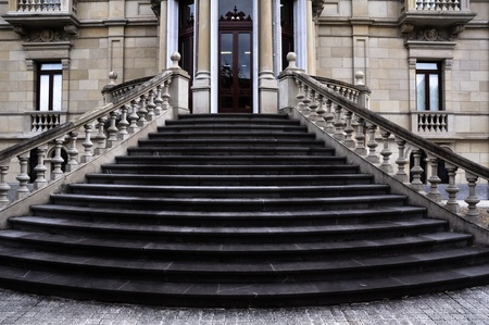 Stairs at Augusti palace, Fine Arts Museum of Alava, Vitoria Stock Photo - 20553024
