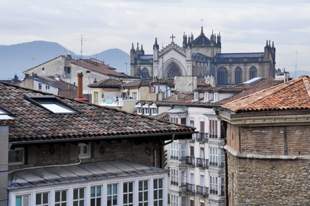 vitoria: Downtown of Vitoria, Spain Stock Photo