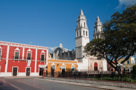 Independence square, Campeche, Mexico