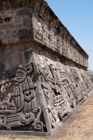 morelos: Temple of the Feathered Serpent in Xochicalco, Mexico