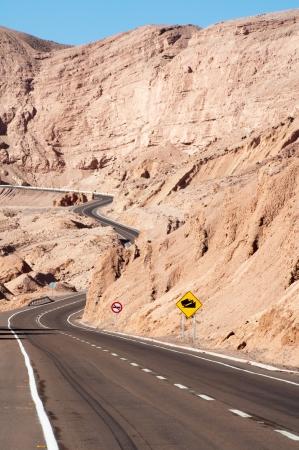 Road in Atacama desert, Chile  photo
