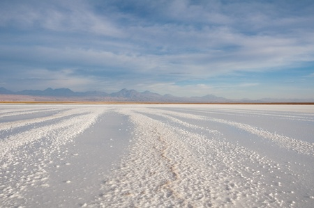 salt flat: Salt flat of Atacama, Chile Stock Photo