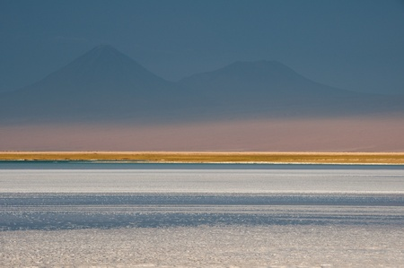 salt flat: Salt flat of Atacama and Andes mountain range, Chile