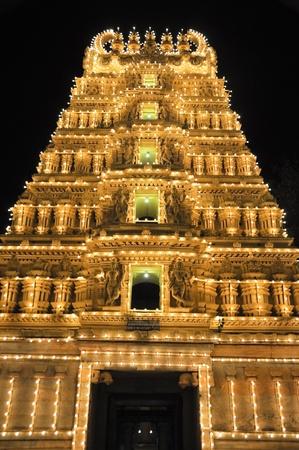 Trinesvara Swami Temple at Mysore palace, India photo