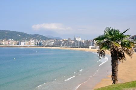 san sebastian: Bay of La Concha, San Sebastian, Spain