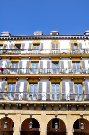 san sebastian: Balcony of Constitucion Square in San Sebastian, Spain Editorial