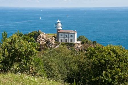 anton: Getaria lighthouse on Mount San Anton, Guipuzcoa,Spain