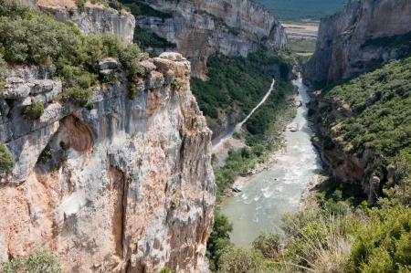 navarre: Foz of Lumbier, nature reserve in Navarre, Spain