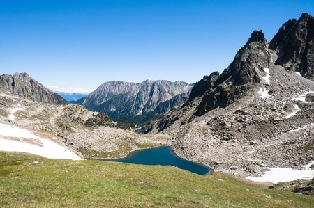 Aiguestortes and Sant Maurici National Park, Pyrenees, Spain photo