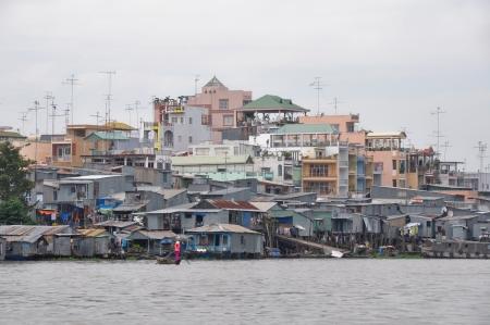 river scape: Chau Doc, Mekong delta, Vietnam