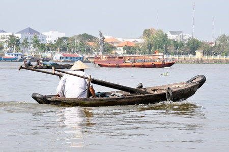 Sailing in the Mekong Delta, Vietnam photo
