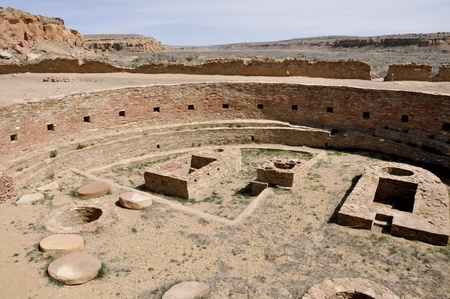 kiva: Chetro Ketl, Great Kiva ruins, Chaco Canyon, New Mexico, USA Stock Photo