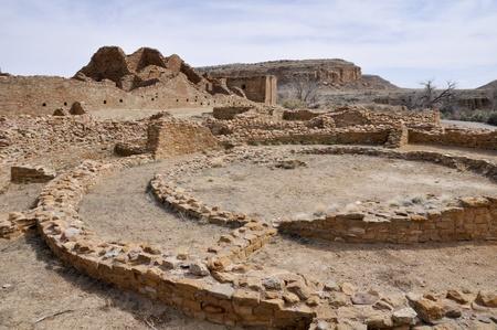 chaco: Pueblo del Arroyo ruins, Chaco Canyon, New Mexico, USA