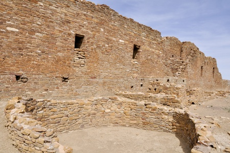 arroyo: Pueblo del Arroyo ruins, New Mexico, USA Stock Photo