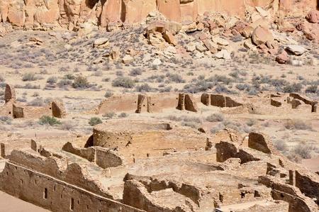 Pueblo Bonito ruins, Chaco Canyon, New Mexico, USA Reklamní fotografie - 22215472