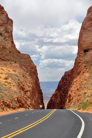 road bike: Route 89 near Page, Arizona, USA