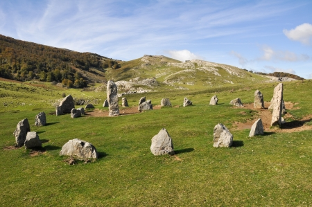 Cromlech of Organbidea, Navarre, Spain Stock Photo
