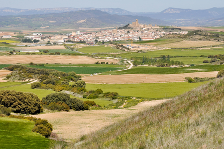 Panoramic view of Artajona, Navarre, Spain Stock Photo - 22392645