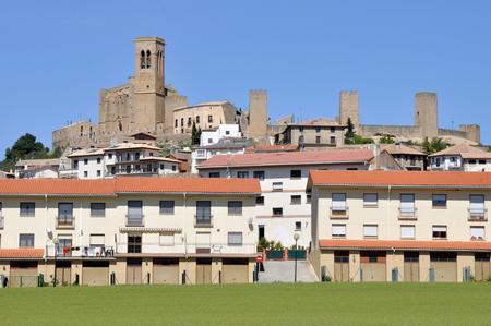 Walled town of Artajona, Navarre, Spain Stock Photo - 22383523