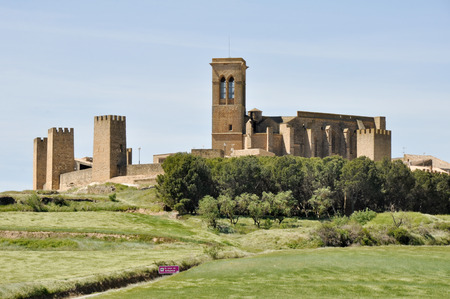 Walled town of Artajona, Navarre, Spain Stock Photo - 22384737