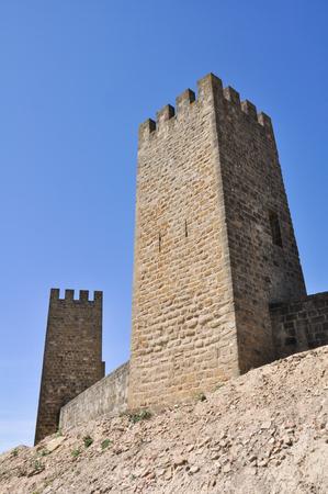 Wall of Artajona, Navarre, Spain Stock Photo - 22384779
