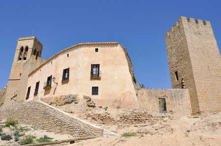 Walled town of Artajona, Navarre, Spain Stock Photo - 22384780
