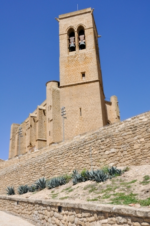 Church of San Saturnino, Artajona, Navarre, Spain Stock Photo - 22415134