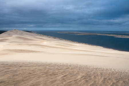 aquitaine: View from the dune of Pyla, highest in Europe, France