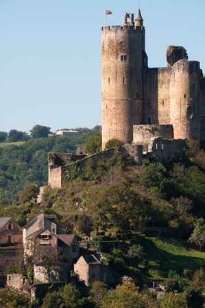 stronghold: Medieval castle in Najac, Aveyron, France