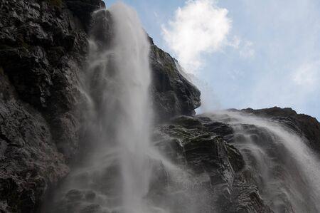 cirque: The big waterfall, Cirque of Gavarnie, Pyrenees, France
