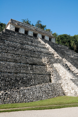 Temple of Inscriptions, ancient Mayan city of Palenque, Mexico photo