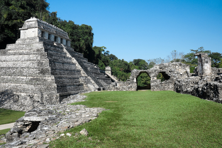 Ancient Mayan city of Palenque, Mexico photo