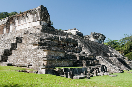 The palace, ancient Mayan city of Palenque, Mexico photo