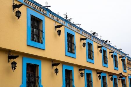 Colonial architecture in San Cristobal de las Casas, Mexico photo
