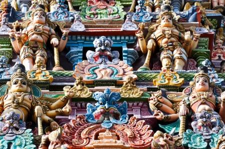Detail of the Meenakshi Temple, Madurai, India photo