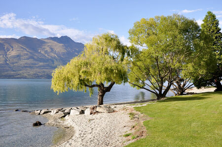 Lake Wakatipu, Queenstown, New Zealand photo