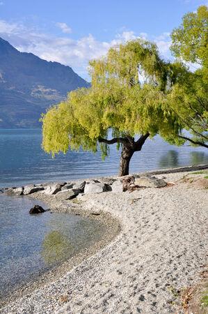 wakatipu: Lake Wakatipu, Queenstown, New Zealand Stock Photo