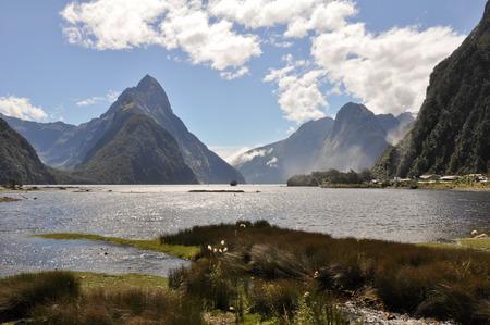 mitre: Mitre Peak in Fiordland National Park, New Zealand