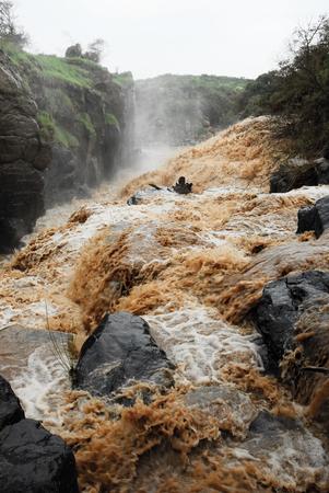 Waterfall at Awash National Park, Ethiopia photo