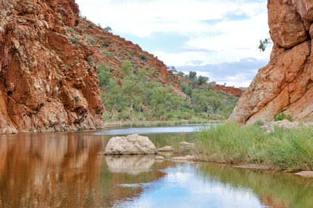ranges: Glen Helen Gorge, il West MacDonnell Ranges, Australia