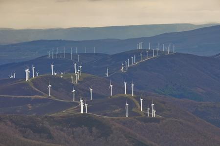 wind turbines: Wind turbines farm, Basque Country, Spain