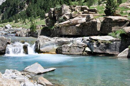 Waterfalls, Ordesa National Park, Pyrenees, Spain photo